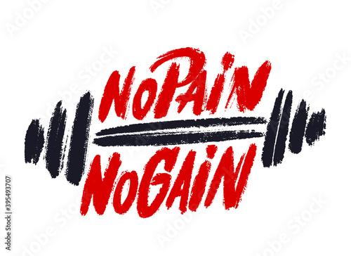 Obraz na płótnie No pain no gain. Motivational poster.