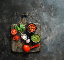 Colombian Aji Picante And Hogao Salsa
