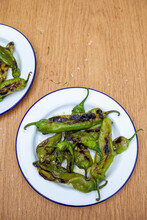 Grilled Green Peppers