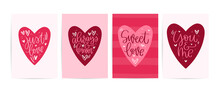 Valentines Day Pink Red Card S...