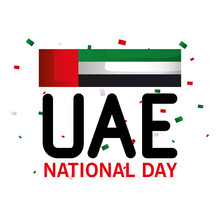 Uae National Day With Flag Des...