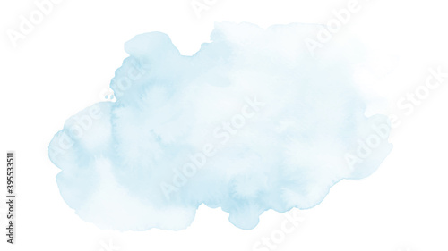 Soft blue and harmony background of stain splash watercolor