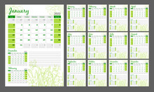 Calendar 2022. Vertical Quarterly Calendar In A Romantic Style With Hand Drawn Flowers. Daffodils In Light Green.