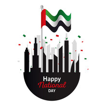 Uae National Day With City Bui...
