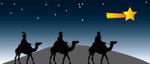 Reyes Magos Siguiendo La Estre...