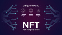 NFT Nonfungible Tokens Infogra...