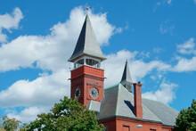 Clock Tower Of Old Town Hall Walpole MA USA