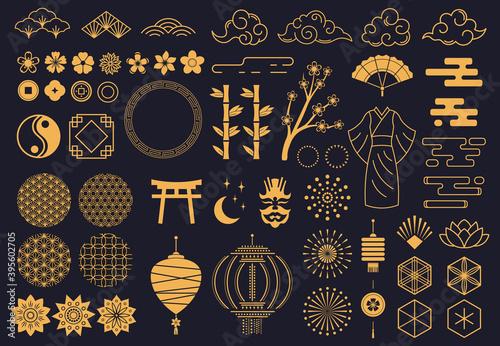 Obraz na płótnie Japanese symbols