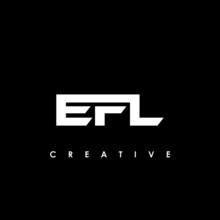 EFL Letter Initial Logo Design Template Vector Illustration
