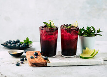Cocktails With Blueberries