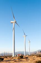 Massive Wind Turbines  Near Pa...