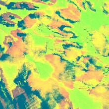 Watercolor Animal Skins. Green Safari. Mint