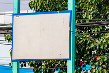 Turquoise Blue Blank Sign In K...