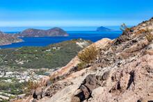 Aeolian Islands, Volcano (Vulcano Island), Lava Rocks, Craterand Sulfur Haze.