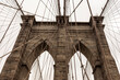 Architectural detail of the Brooklin Bridge in New York City. United States.