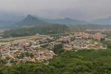 Gubeikou Village And The Section Of The Great Wall Of China.