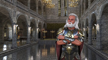 King Solomon. The Richest King Of The People Of Israel, With Knowledge And Wisdom. 3D Illustration, 3D Rendering, 3D Art.