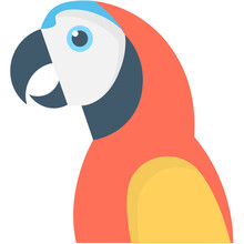 Parrot Flat Vector Icon