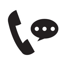 Telephone Receiver Icon On White Background. Phone Receiver Sign. Talking On Phone Symbol. Social Media And Network Logo.