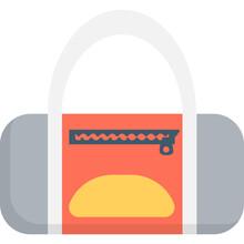 Duffle Bag Flat Vector Icon