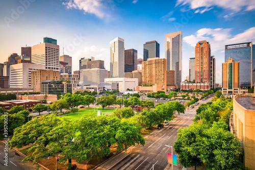 Houston, Texas, USA Skyline - fototapety na wymiar