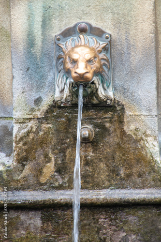 Photo Close up of Spa water tap Buxton in Derbyshire