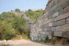 Dilapidated And Unrepaired Section Of The Huanghuashui Great Wall In Beijing, China