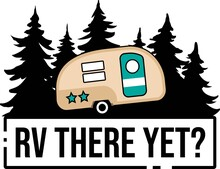 RV There Yet On The White Background. Vector Illustration