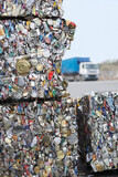 Crushed Tin Cans For Recycling