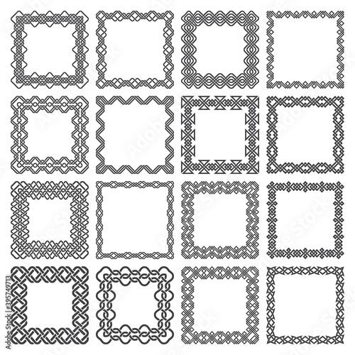 Fototapeta Set of square frames
