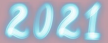 2021 Banner Scritta Neon Sfond...