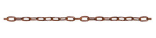 Close-up Of A Vintage Rusty Steel Chain Isolated On A White Background (high Details)