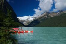 Renting Canoes On Lake Louise