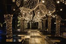 Christmas Light Fairy Ornaments Xmas City Decorations Big Balls Trees