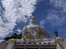 Low Angle View Of The Bahirawakanda Vihara Buddha Statue In Kandy Sri Lanka