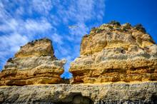 Rock Formations In The Algarve. Elephant Rock Drinking