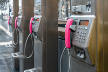 Public Telephone Speaker In A ...