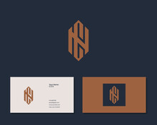 Letter C N Logo Design. Creative Minimal Monochrome Monogram Symbol. Universal Elegant Vector Emblem. Premium Business Logotype. Graphic Alphabet Symbol For Corporate Identity