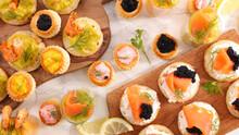 Festive Canape- Buffet Food,  Dining