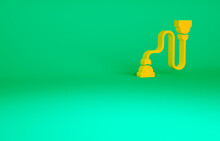 Orange Chest Expander Icon Isolated On Green Background. Minimalism Concept. 3d Illustration 3D Render.