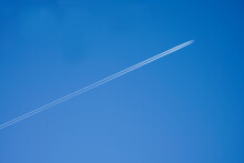 Trace Of The Plane On The Blue...