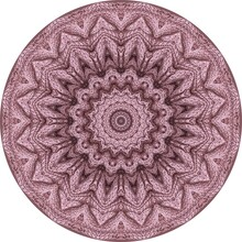 Dusty Pink Mandala With Knitting Texture. Decorative Round Ornament