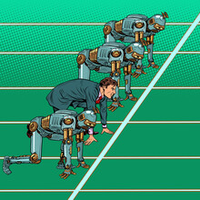Humans Compete With Robots. Technical Revolution