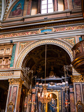 The Churches And Palaces Of Turin Are Covered In Painted, Overblown Style But Beautiful Decoration.