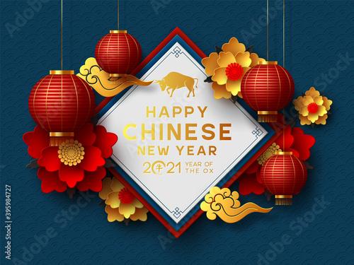 Obraz Chinese new year 2021  - lunar new year - fototapety do salonu