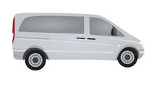 Van. Side View. Vector Illustration