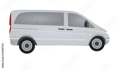 фотография Van. side view. vector illustration