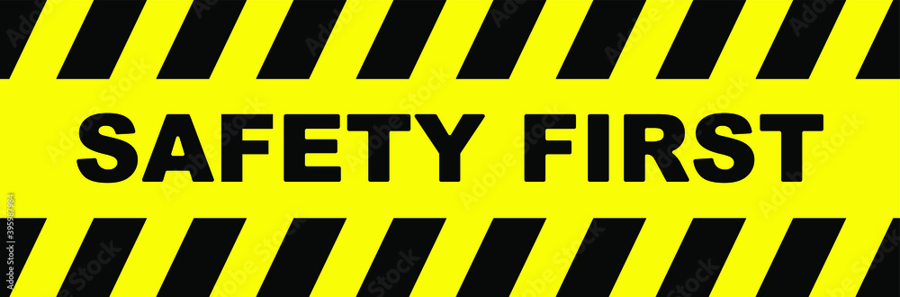 Fototapeta safety first sign. vector icon