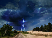 Picturesque Thunderstorm In De...