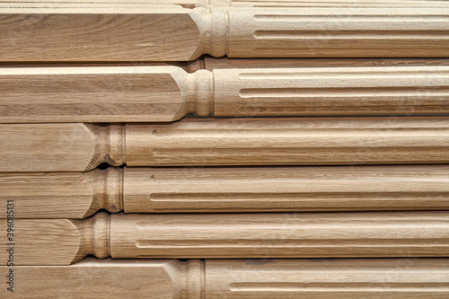 Tela Turning wooden stair balusters